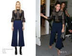 Jessica Biel In Self-Portrait - Bareitall + Bare AW15 Launch Event