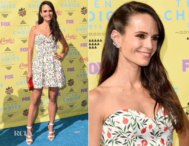 Jordana Brewster In Ulyana Sergeenko -  2015 Teen Choice Awards