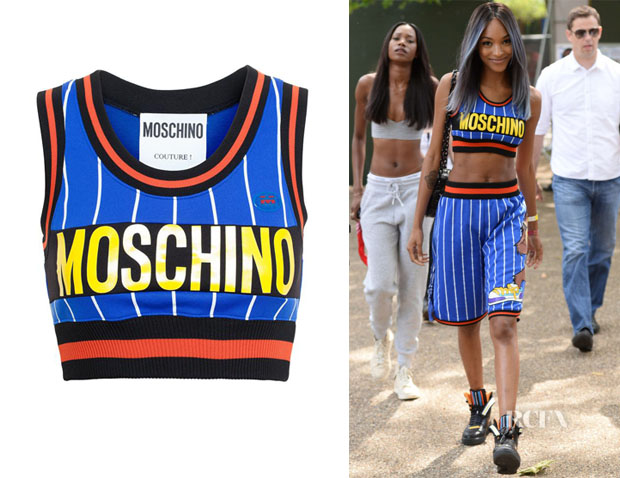 Jourdan Dunn's Moschino Striped Crop Top