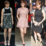 Kate Mara In Giambattista Valli, Christian Dior & David Koma - Live! With Kelly & Michael, Out In New York, The Tonight Show Starring Jimmy Fallon
