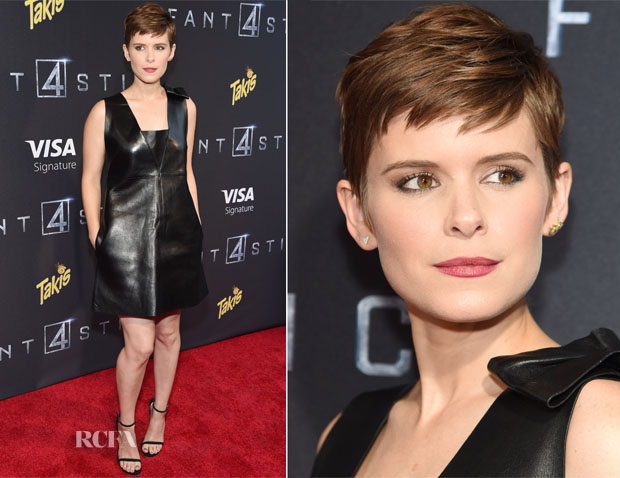 Kate Mara In Valentino - 'Fantastic Four' New York Premiere