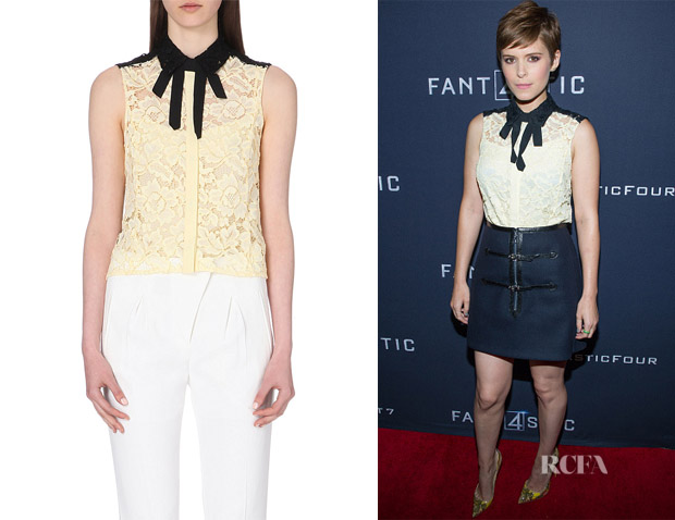 Kate Mara's Sandro 'Clem' Sleeveless Lace Shirt