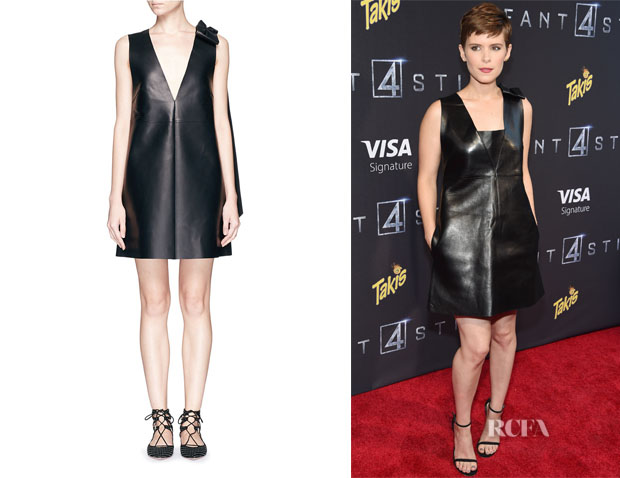 Kate Mara's Valentino Bow Drape Leather Dress