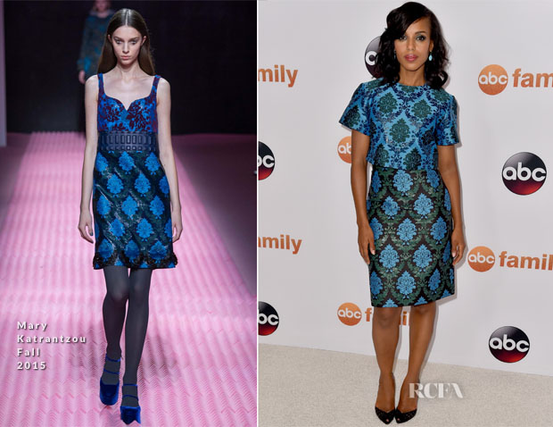 Kerry Washington In Mary Katrantzou - Disney ABC Television Group's 2015 Summer TCA Press Tour