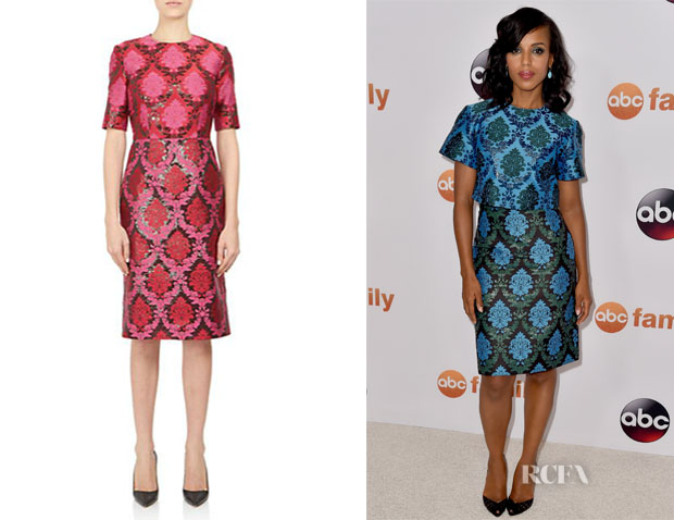 Kerry Washington's Mary Katrantzou 'Voluta' Brocade Sheath Dress