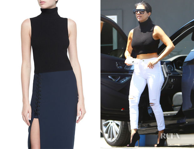 Kourtney Kardashian's Elizabeth and James Turtleneck Sleeveless Top