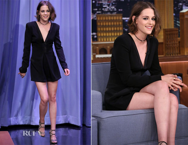 Kristen Stewart In Diane von Furstenberg - The Tonight Show Starring Jimmy Fallon