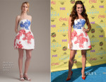 Lea Michele In Monique Lhuillier - 2015 Teen Choice Awards