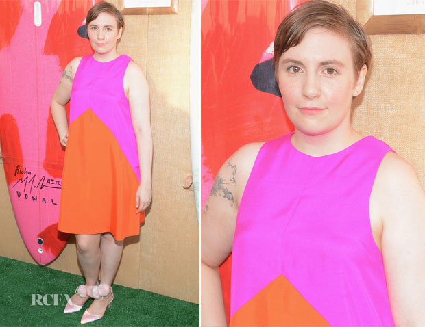 Lena Dunham In Lisa Perry -  The Hamptons Paddle & Party for Pink 2015
