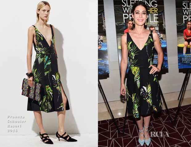 Lizzy Caplan In Proenza Schouler - 'Sleeping With Other People' LA Screening