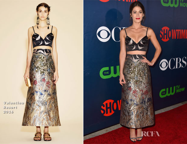 Lizzy Caplan In Valentino - CBS' 2015 Summer TCA Party