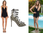Louise Roe's Lovers + Friends 'Ruby' Lace Romper And Raye 'Bree' Heels