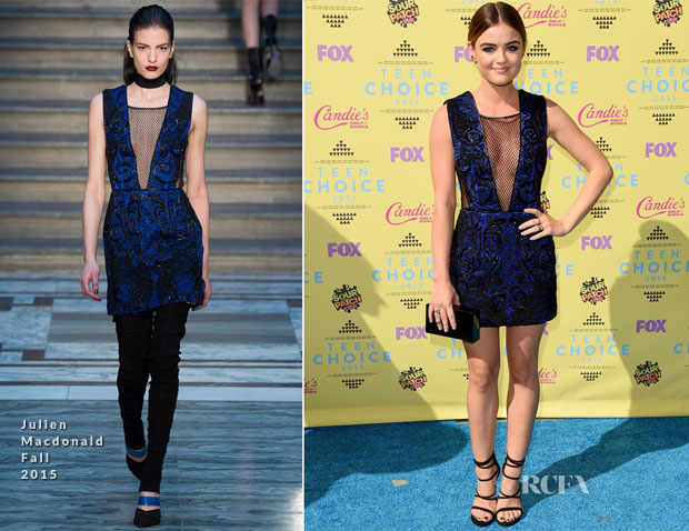 Lucy Hale In Julien Macdonald - 2015 Teen Choice Awards