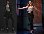 Lucy Hale In Vatanika - Late Night with Seth Meyers