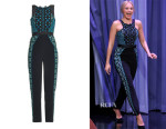 Margot Robbie's Peter Pilotto Atom Embroidered Jumpsuit