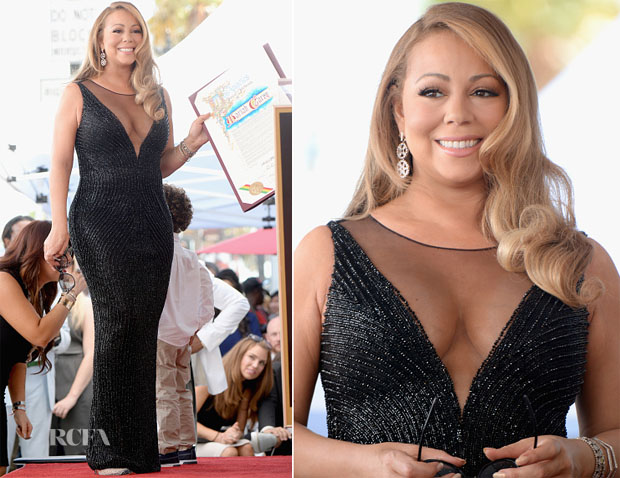 Mariah Carey In Yousef Aljasmi - Hollywood Walk Of Fame Ceremony