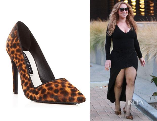 Mariah Carey 's Alice + Olivia 'Dina' Leopard Print Pumps