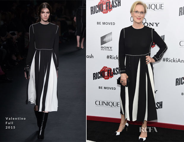 Meryl Streep In Valentino - 'Ricki And The Flash' New York Premiere