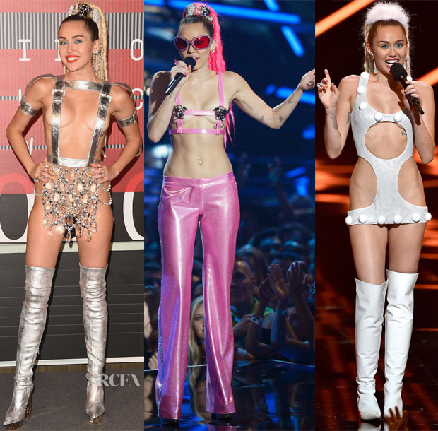 Miley Cyrus In Atelier Versace & House of Holland - 2015 MTV Video Music Awards #VMAs