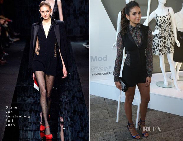 9a09ecbde07 Nina Dobrev In Diane von Furstenberg - StyleWatch x Revolve Fall Fashion  Party