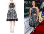 Odeya Rush's Peter Pilotto 'Atom' Lace Panel Jacquard Flare Dress