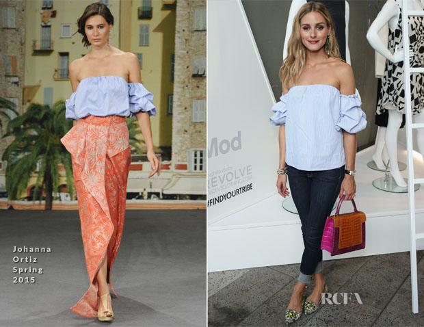 Olivia Palermo In Johanna Ortiz - StyleWatch x Revolve Fall Fashion Party