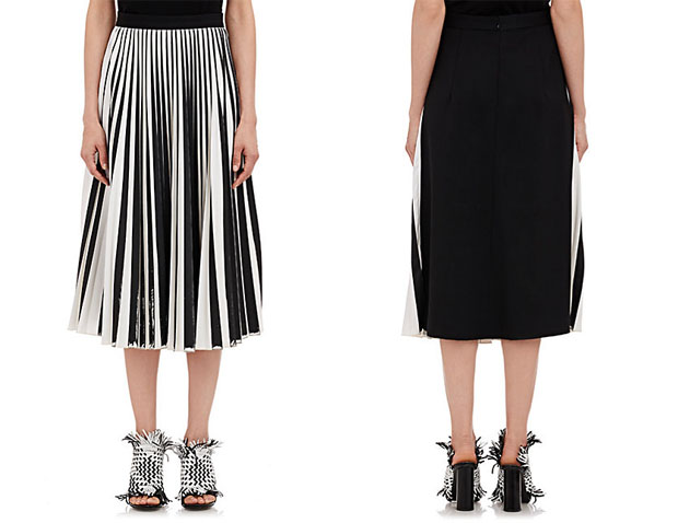 PROENZA SCHOULER front pleat skirt