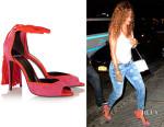 Rihanna's Pierre Hardy 'Majorelle' Tasseled Suede Sandals