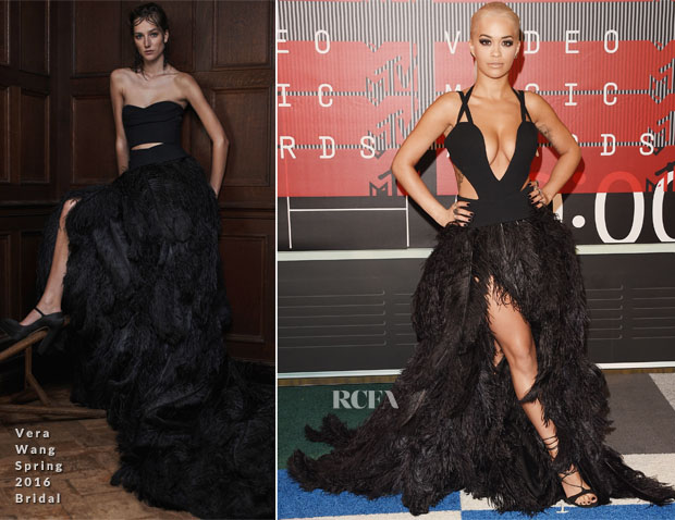 Rita Ora In Vera Wang & Alexandre Vauthier Couture - 2015 MTV Video Music Awards #VMAs