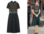 Shailene Woodley's Mary Katrantzou 'Lamur Guipure' Lace And Jacquard Midi Dress