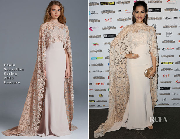 Sonam Kapoor In Paolo Sebastian Couture - Indian Film Festival Of Melbourne Awards Night
