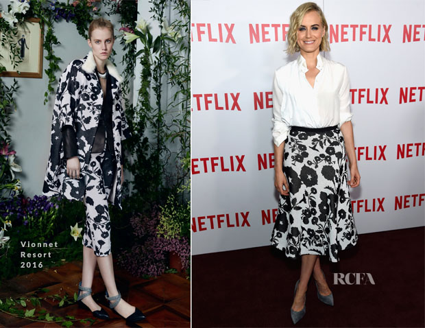 Taylor Schilling In Vionnet - 'Orange Is The New Black' FYC Screening