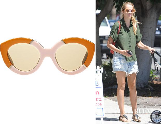 Teresa Palmer's Karen Walker Flowerpatch Sunglasses