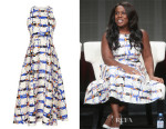 Uzo Aduba's L.K. Bennett 'Coney' Printed Dress