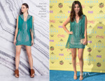 Victoria Justice In Hervé Léger by Max Azria - 2015 Teen Choice Awards