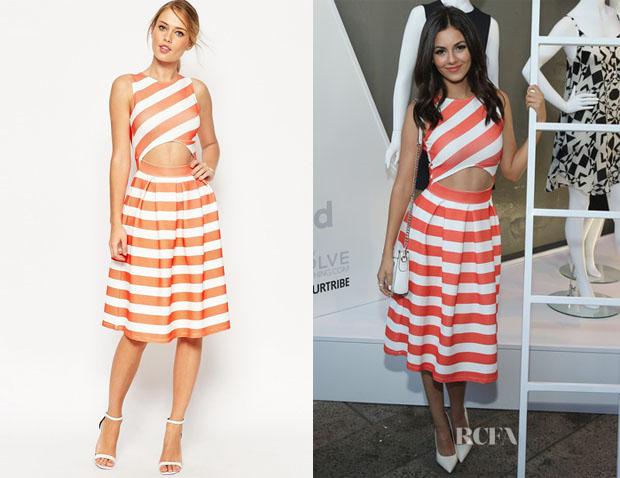 Victoria Justice's ASOS Midi Dress