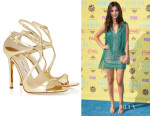 Victoria Justice's Jimmy Choo 'Lance' Sandals