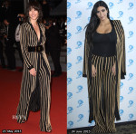 Who Wore Balmain Better...Sophie Marceau or Kim Kardashian?