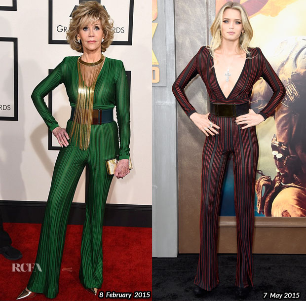 Who Wore Balmain Better Jane Fonda or Abbey Lee