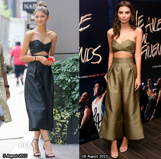 Who Wore Solace London Better...Zendaya Coleman or Emily Ratajkowski?