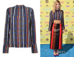 Willow Shields' Marni Striped Skirt