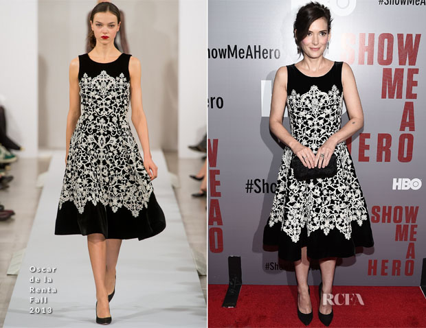 Winona Ryder In Oscar de la Renta - 'Show Me A Hero' New York Screening 2