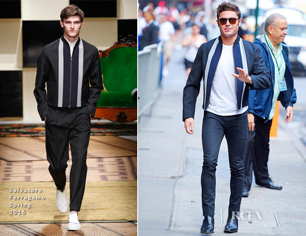 Zac Efron In Salvatore Ferragamo - Good Morning America