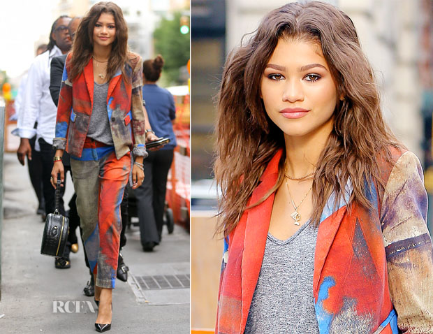 Zendaya Coleman In Vivienne Westwood Anglomania - Out In New York City