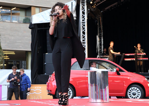 LONDON, ENGLAND - SEPTEMBER 02:  Ella Eyre attends the New Remastered Fiat 500 launch with an exclusive performance by Ella Eyre at Potters Field Park on September 2, 2015 in London, England.  (Photo by Mike Marsland/WireImage) *** Local Caption *** Ella Eyre