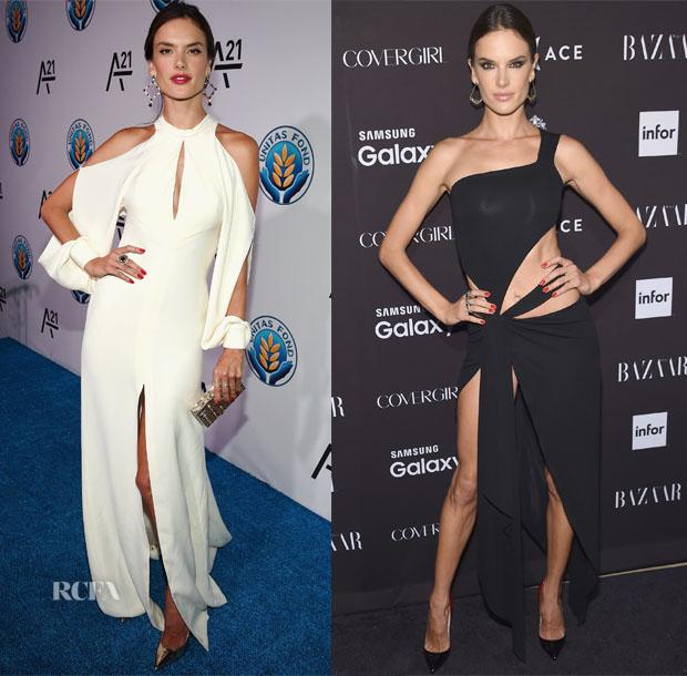 Alessandra Ambrosio In J Mendel & Alexandre Vauthier Couture - Unitas Gala & 2015 Harper's Bazaar ICONS Event