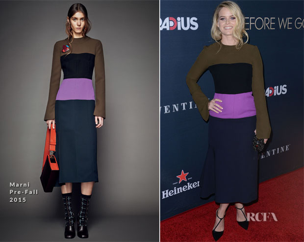 Alice Eve In Marni -  'Before We Go' LA Premiere