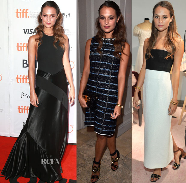Alicia Vikander In Louis Vuitton & Rosetta Getty -  2015 Toronto International Film Festival