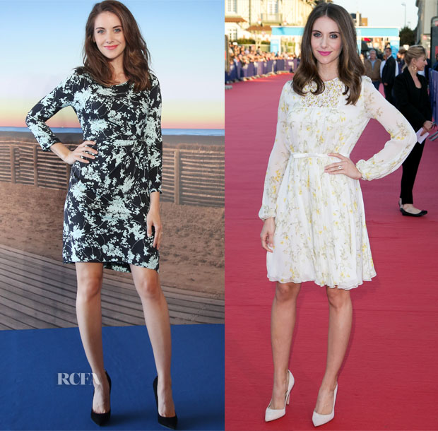 Alison Brie In Diane von Furstenberg & Giambattista Valli - 'Sleeping With Other People' Deauville American Film Festival Photocall & Premiere