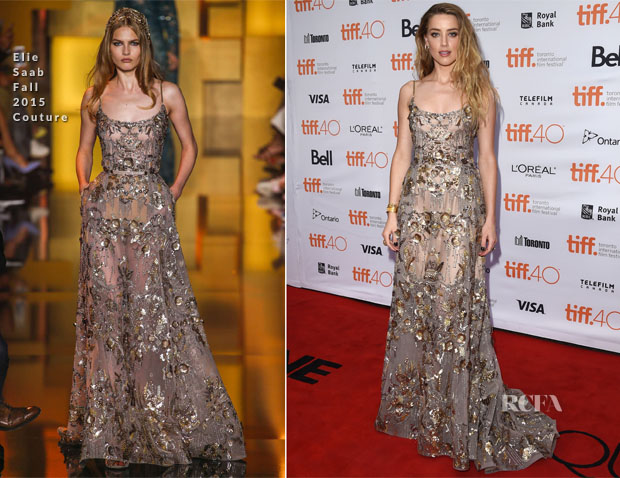 Amber Heard In Elie Saab Couture - 'The Danish Girl' Toronto Film Festival